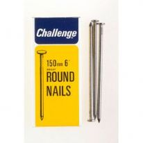 Challenge Round Wire Nails - Bright Steel (Box Pack) - 150mm